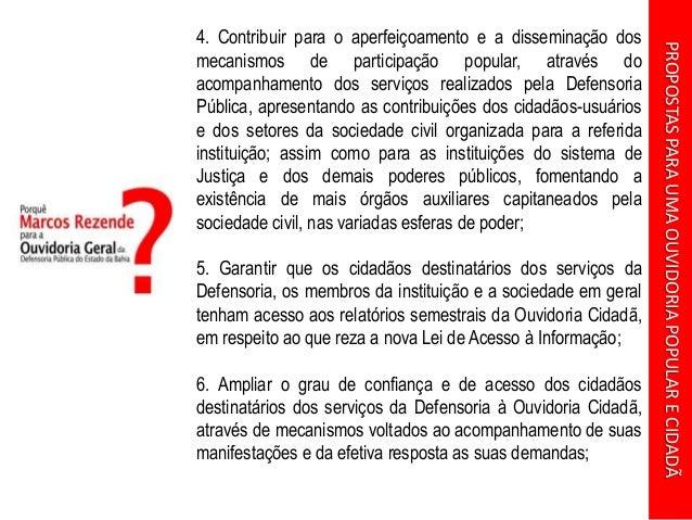 Apresentação: Proposta para uma Ouvidoria Popular e Cidadã Slide 2