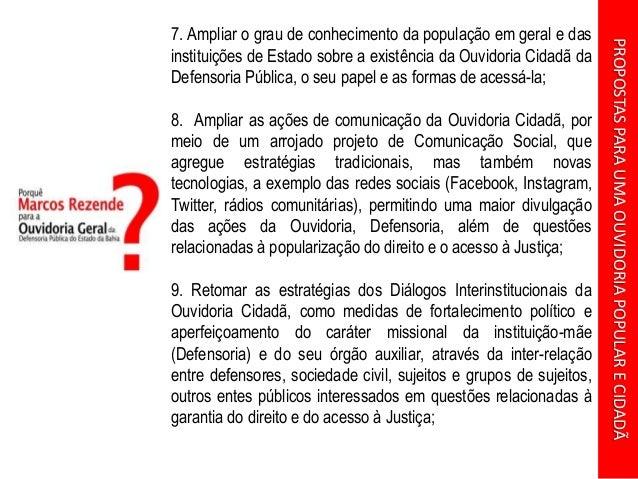 Apresentação: Proposta para uma Ouvidoria Popular e Cidadã Slide 3