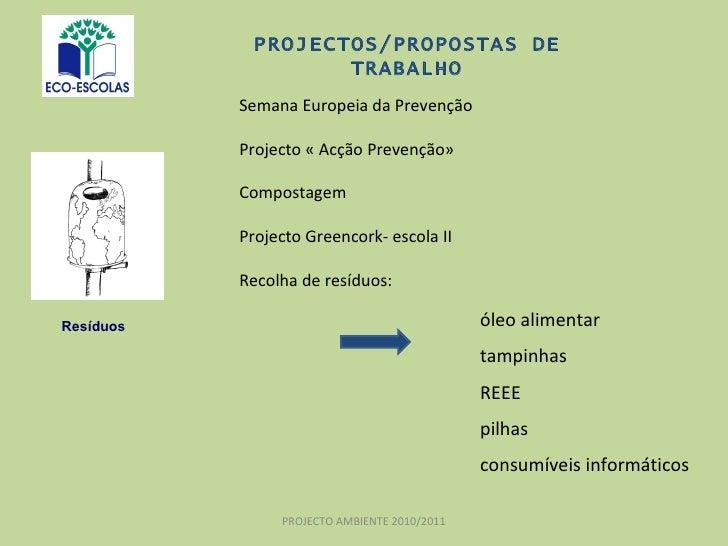 Semana Europeia da Prevenção Projecto « Acção Prevenção» Compostagem Projecto Greencork- escola II Recolha de resíduos:  P...