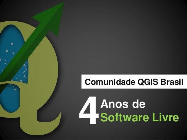 Anos de Software Livre  Comunidade QGIS Brasil  4