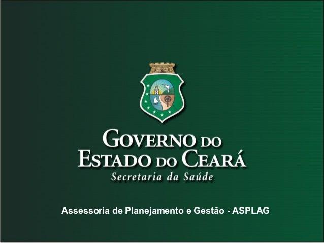 Assessoria de Planejamento e Gestão - ASPLAG