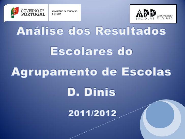Análise dos Resultados Escolares do Agrupamento de Escolas D. Dinis – 2011/2012