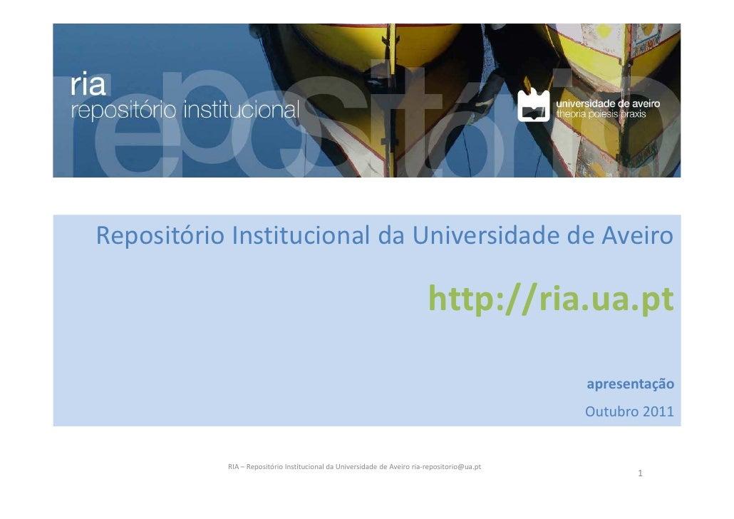 Repositório Institucional da Universidade de Aveiro                                                                       ...