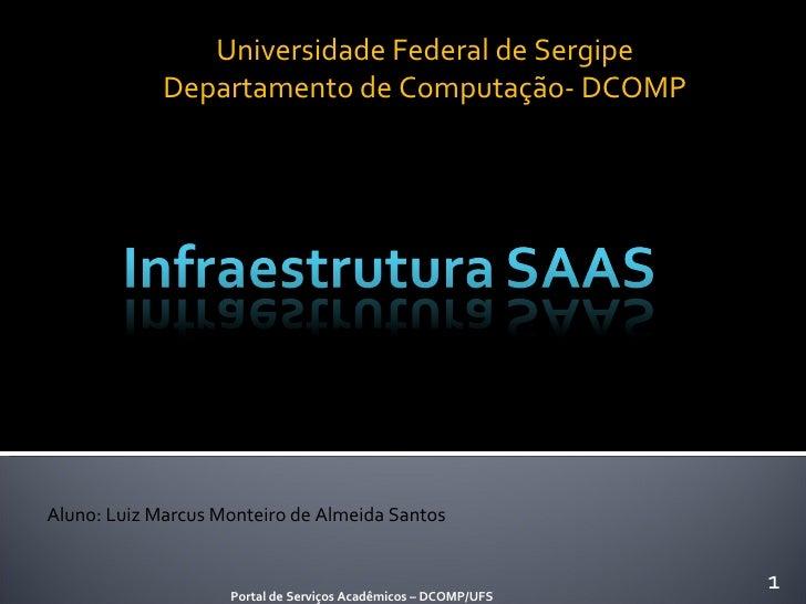 Universidade Federal de Sergipe Departamento de Computação- DCOMP Portal de Serviços Acadêmicos – DCOMP/UFS Aluno: Luiz Ma...