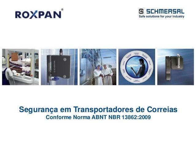 19.03.2014 Slide 1© 2007 – 2013 K.A. Schmersal GmbH & Co. KG Segurança em Transportadores de Correias Conforme Norma ABNT ...