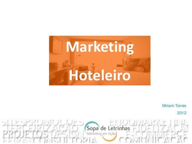 MarketingHoteleiro            Miriam Torres                    2012