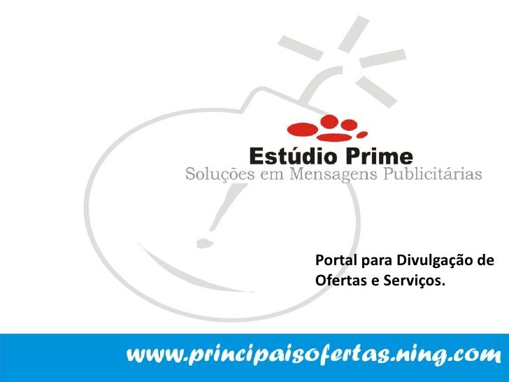 Portal para Divulgação de <br />Ofertas e Serviços.<br />