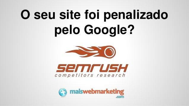 O seu site foi penalizado pelo Google?