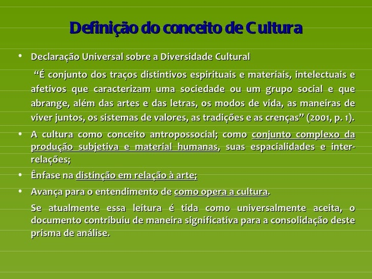 O conceito sociológico de cultura - Ciberdúvidas da ...