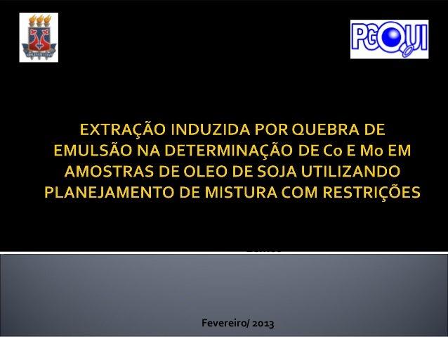 Universidade Estadual do Sudoeste da BahiaPrograma de Pós- Graduação em QuímicaGisseli Souza ValasquesProf. Dr. Valfredo A...