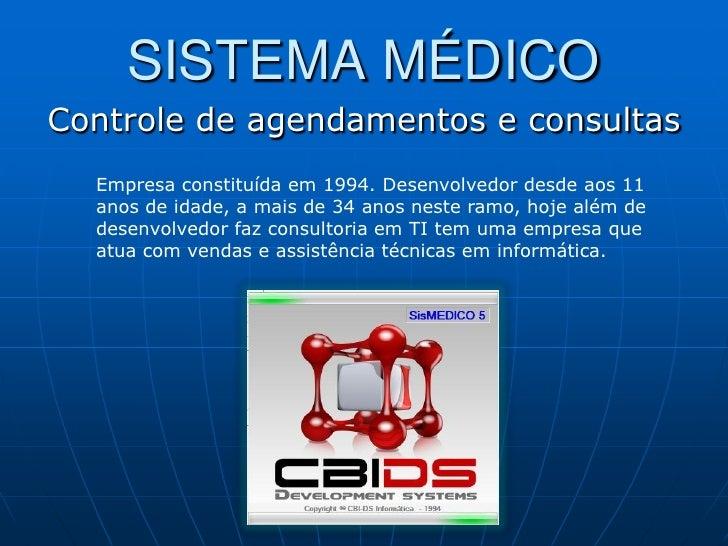 Apresentação Sistema Médico (SisMEDICO)
