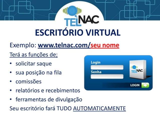 Apresentação TELNAC - MMN COM BINÁRIO DESTRAVADO - GANHA MESMO SEM INDICAR