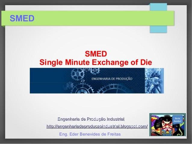 SMED SMED Single Minute Exchange of Die Engenharia de Produção IndustrialEngenharia de Produção Industrial http://engenhar...