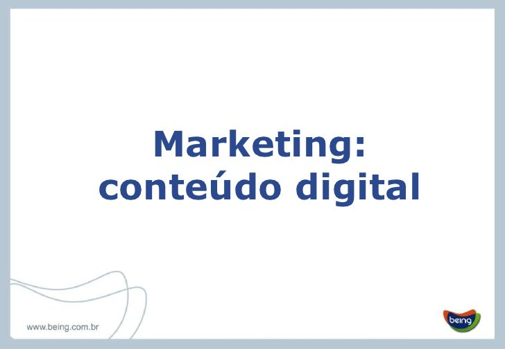 Marketing: conteúdo digital<br />