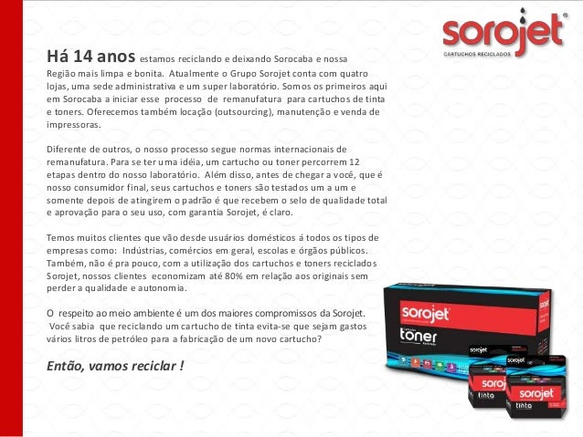 Há 14 anos estamos reciclando e deixando Sorocaba e nossa Região mais limpa e bonita. Atualmente o Grupo Sorojet conta com...