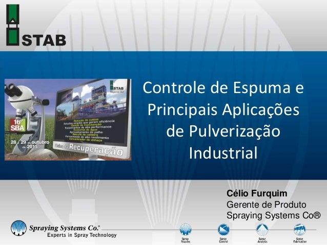 Célio Furquim Gerente de Produto Spraying Systems Co® Controle de Espuma e Principais Aplicações de Pulverização Industrial