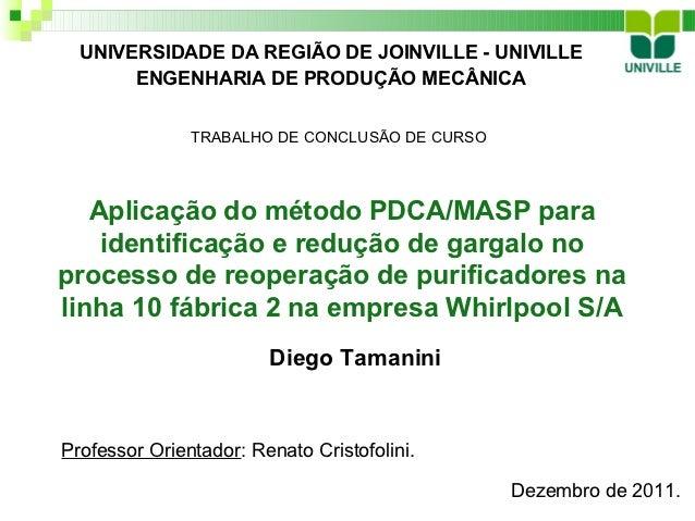 UNIVERSIDADE DA REGIÃO DE JOINVILLE - UNIVILLE       ENGENHARIA DE PRODUÇÃO MECÂNICA               TRABALHO DE CONCLUSÃO D...