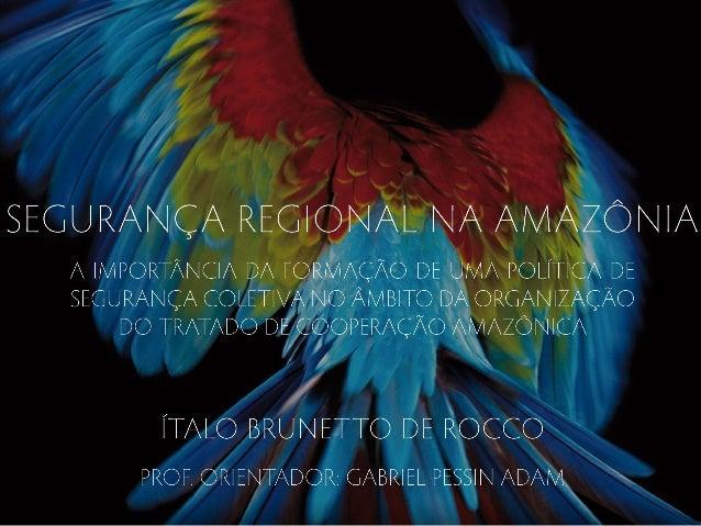 Apresentação TCC - Ítalo Brunetto De Rocco