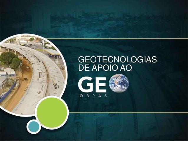 GEOTECNOLOGIAS DE APOIO AO