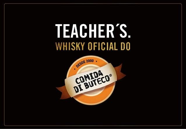 Objetivos: • Evidenciar a raiz escocesa do produto. • Enfatizar que Teacher's é o whisky mais vendido do Brasil. • Mostrar...