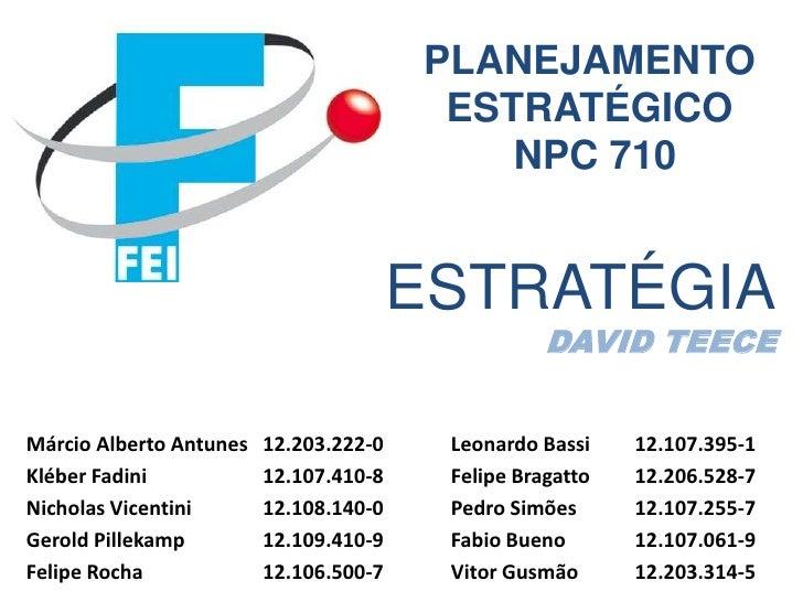 PLANEJAMENTO                                         ESTRATÉGICO                                            NPC 710       ...