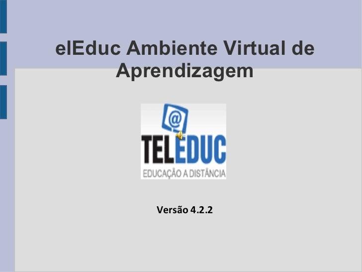 TelEduc Ambiente Virtual de Aprendizagem Título Versão 4.2.2