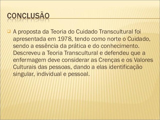 Apresentação teoria transcultural