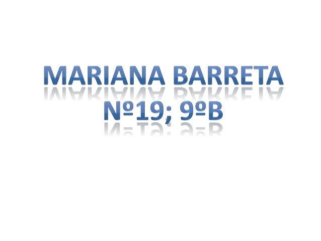 • Olá, eu sou a  Mariana, tenho  13 anos e vivo na  Amora.• O ano passado  era da Escola  João de Barros.