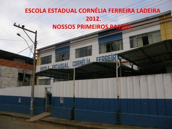 ESCOLA ESTADUAL CORNÉLIA FERREIRA LADEIRA                   .                  2012.        NOSSOS PRIMEIROS PASSOS