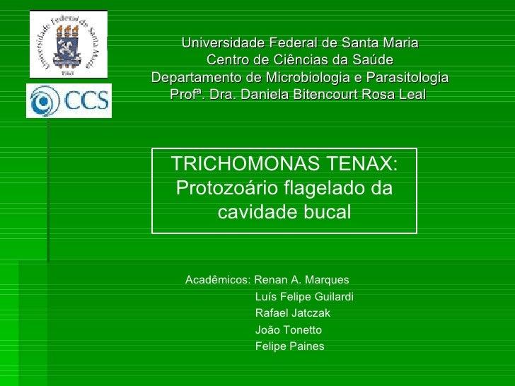 Universidade Federal de Santa Maria Centro de Ciências da Saúde Departamento de Microbiologia e Parasitologia Profª. Dra. ...