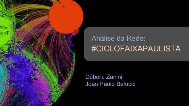 Análise da Rede: #CICLOFAIXAPAULISTA Débora Zanini João Paulo Belucci