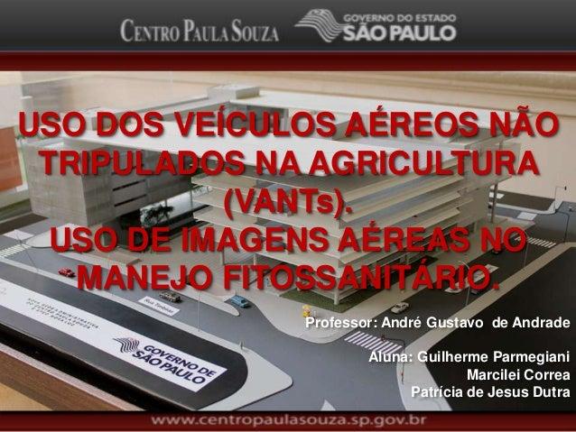 USO DOS VEÍCULOS AÉREOS NÃO TRIPULADOS NA AGRICULTURA (VANTs). USO DE IMAGENS AÉREAS NO MANEJO FITOSSANITÁRIO. Professor: ...