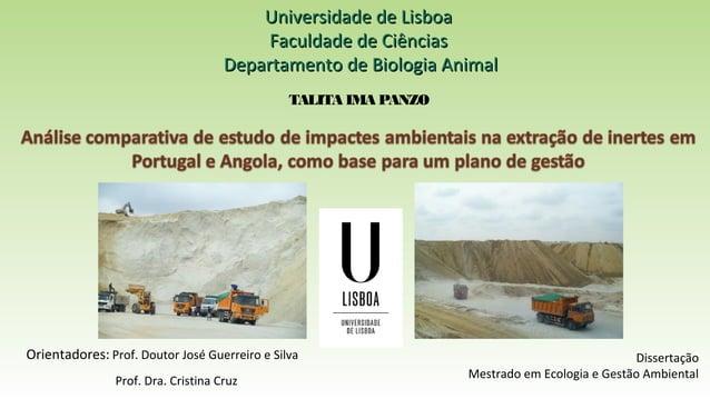Universidade de LisboaUniversidade de Lisboa Faculdade de CiênciasFaculdade de Ciências Departamento de Biologia AnimalDep...