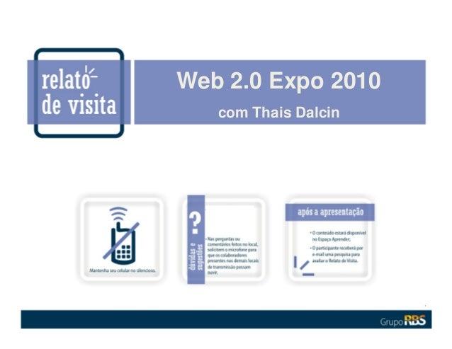 Web 2.0 Expo 2010 com Thais Dalcin