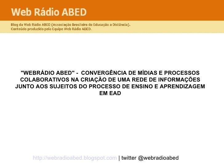 Web rádio ABED
