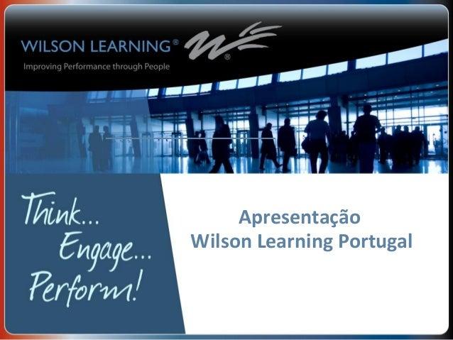 Apresentação Wilson Learning Portugal
