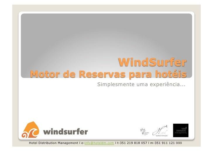 Windsurfer - Motor de Reservas para Hotéis.