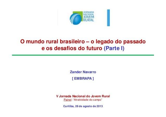 O mundo rural brasileiro – o legado do passado e os desafios do futuro (Parte I) Zander Navarro [ EMBRAPA ] V Jornada Naci...