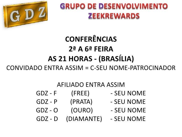 G            D                        Z                CONFERÊNCIAS                 2ª A 6ª FEIRA           AS 21 HORAS - ...