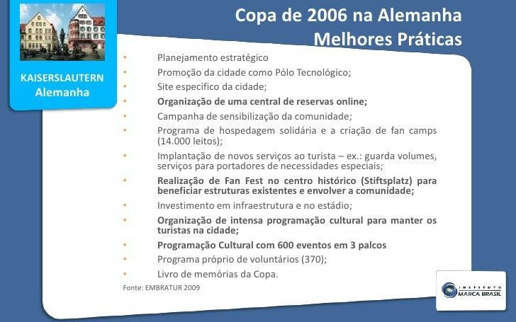 Copa de 2006 na Alemanha  Melhores Práticas<br /><ul><li>Planejamento estratégico