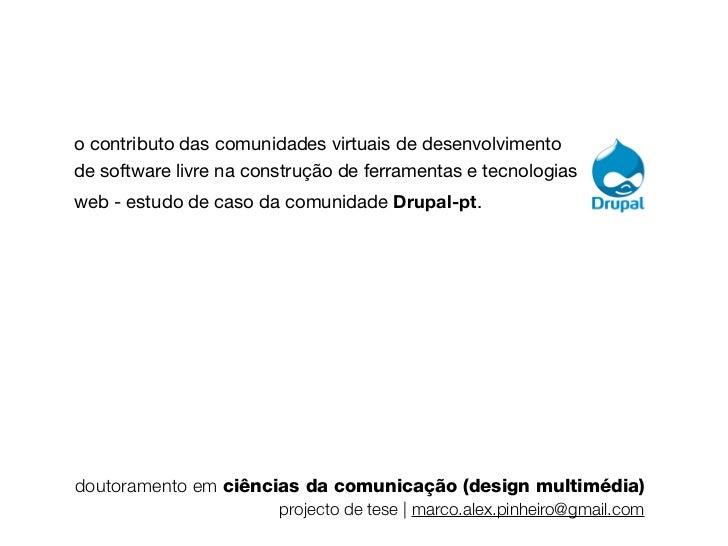 o contributo das comunidades virtuais de desenvolvimentode software livre na construção de ferramentas e tecnologiasweb - ...