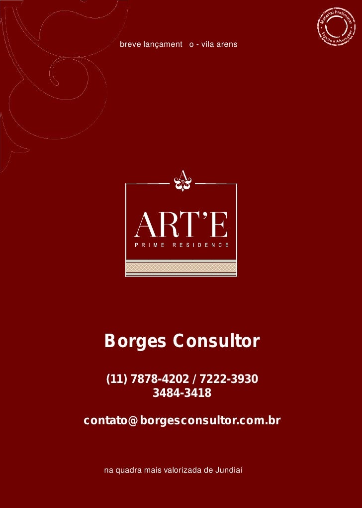 ART'E - PRIME RESIDENCE - VILA ARENS - JUNDIAÍ