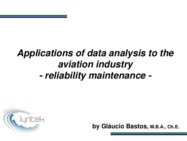 Applications of data analysis to aviation