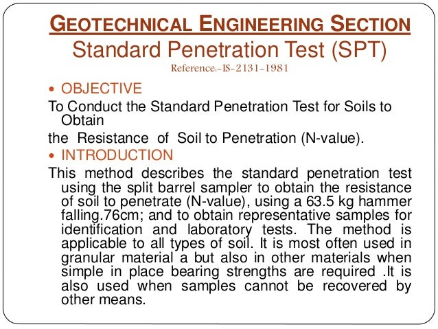 For standard penetration test ppt you