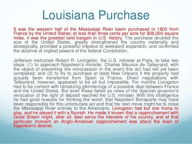 An essay on the louisiana purchase