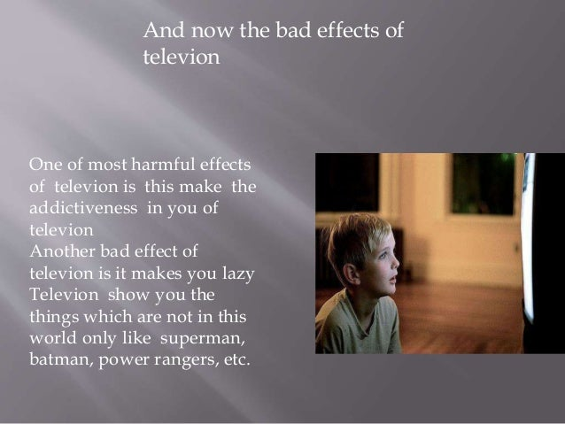 harmful effects of television