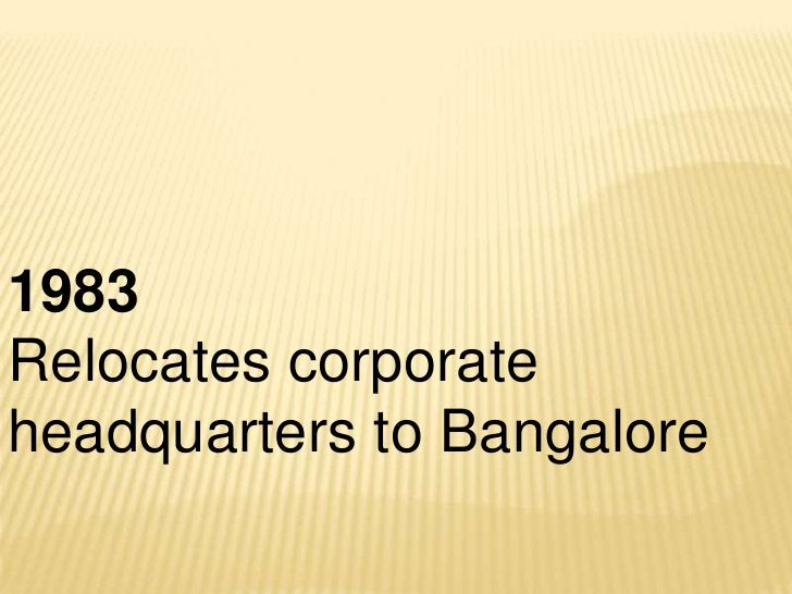 1995Opens first European office in the UKand global development centers atToronto and Mangalore. Sets up e-Business practice