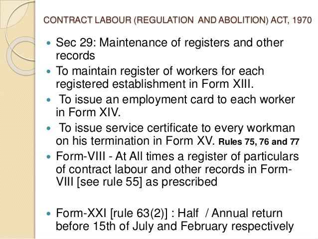 A presentation on labour laws compliances