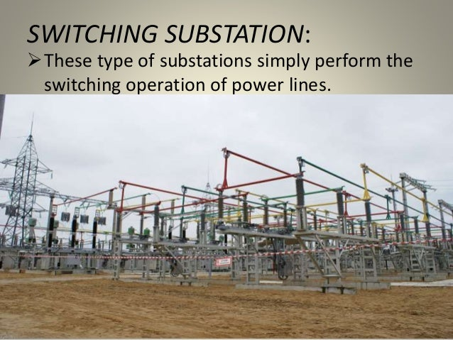 SWITCHING SUBSTATION: These type of substations simply perform the switching operation of power lines.