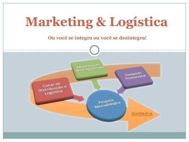Marketing & Logística Ou você se integra ou você se desintegra!